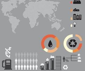 Oil Infographics Elements art Illustration vector