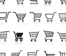 Pushcart Icons shiny vector