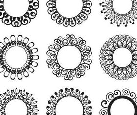 Circle Ornate Elements 4 vectors