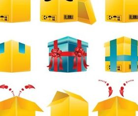 Delivery Boxes vector design