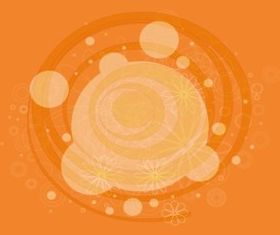 Circles And Flowers vector