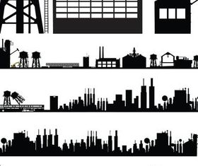 Industrial Objects vector graphics