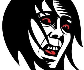 Fearful Face Clip Art vector design