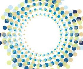 Abstract Circle Halftone Shape set vector