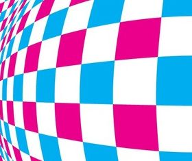 Warped Checkered Pattern Background vector
