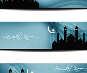Stylish Islamic Banners art vector