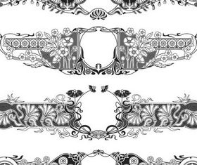 Ornament Borders Elements art vector