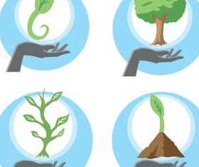 Ecology Bright Symbols vector graphics