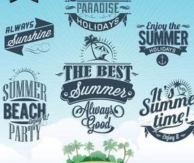 Summer Vintage Labels art vector