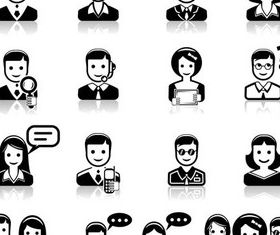 Business People Icons 6 vector