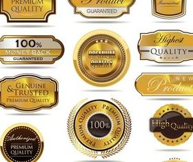 Quality Golden Labels Art vectors graphics