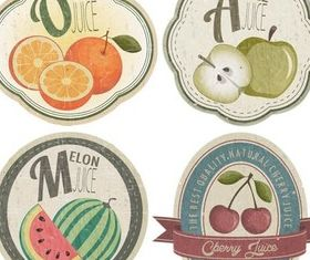 Retro Fruits Labels free vector