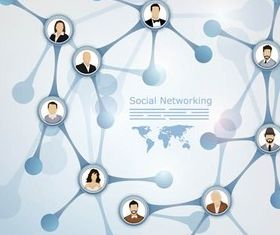 Social Network Backgrounds art vector