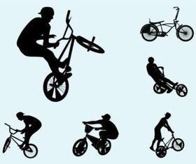 Biker Silhouettes vectors graphics