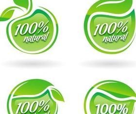 Natural Labels graphic Illustration vector