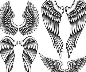Wings Tatoo free shiny vector