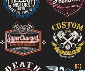 Motorcycle Labels Art vector