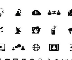 Different Icons Set vector