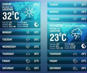Mobile Weather Widgets Art vector