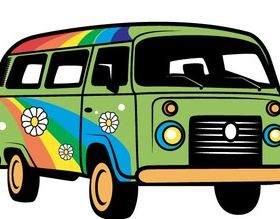 Hippie Van Art vectors