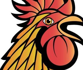 Rooster Art vector
