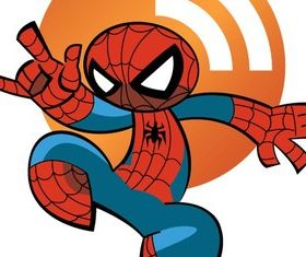 Spiderman RSS Icon Vector graphic