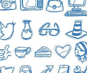 Sketch Icons vectors material