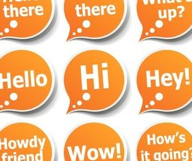 Speech Bubble Stickers Vector design
