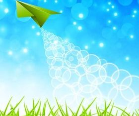 Nature Backgrounds with green grass vector set