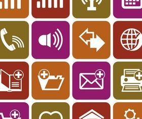 Different Flat Icons 10 vectors graphics