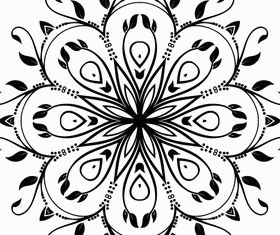Abstract Floral Decorative Vector material 02
