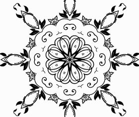 Floral Ornament Design Elements vector