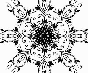Flower Decoration Design vector