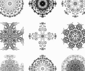 Circle Ornate Elements 2 vector