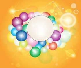 Bubbles Layout Illustration vector