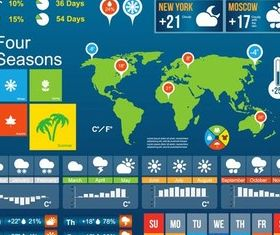 Weather Infographics Elements 2 vector