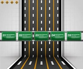 Backgrounds with Roads vector