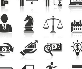 Business People Icons 4 vector