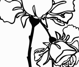 Hand Drawn Rose Image vector design