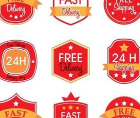 Delivery Labels Art vector