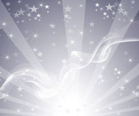 Silver Star Background set vector