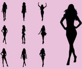 Fashion Models vector graphics