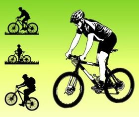 Bikers Silhouettes vector