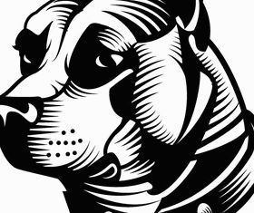 Free Staffordshire Bull Terrier Art vectors graphic