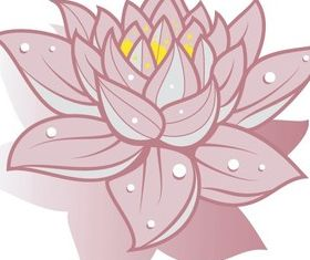 Lotus Flower Art Free shiny vector