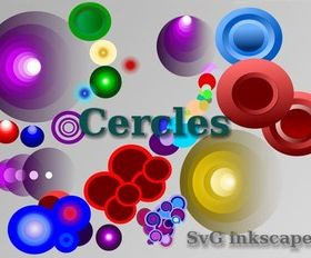 Free Colorful Circles Graphics vector