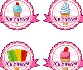 Ice Cream Labels set vector
