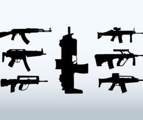 Big Guns vector set