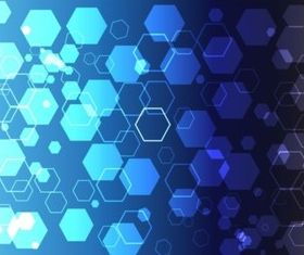 Blue Hexagon Theme creative vector
