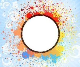 Color Splash Tile vector set